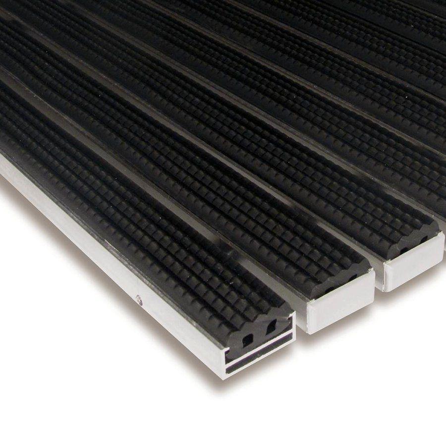 Gumová hliníková venkovní vstupní rohož Alu Standard, FLOMAT - délka 100 cm, šířka 100 cm a výška 1,7 cm
