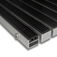 Gumová hliníková čistící vstupní venkovní rohož Alu Standard - 100 x 100 x 2,7 cm