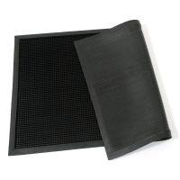 Gumová čistící venkovní vstupní rohož Rubber Brush, FLOMAT - délka 60 cm, šířka 100 cm a výška 1,2 cm