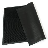 Gumová vstupní venkovní čistící rohož Rubber Brush, FLOMAT - délka 90 cm, šířka 120 cm a výška 1,2 cm