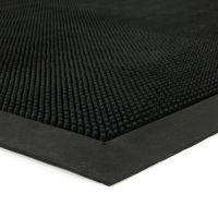 Gumová vstupní venkovní čistící rohož Rubber Brush, FLOMAT - délka 90 cm, šířka 150 cm a výška 1,2 cm