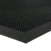 Gumová čistící venkovní vstupní rohož Rubber Brush, FLOMAT - délka 60 cm, šířka 80 cm a výška 1,2 cm