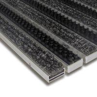 Hliníková textilní čistící vnitřní vstupní kartáčová rohož Alu Extra - 100 x 100 x 1,7 cm