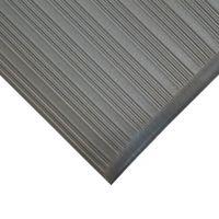Šedá gumová protiskluzová protiúnavová průmyslová rohož - 18,3 m x 90 cm x 0,9 cm
