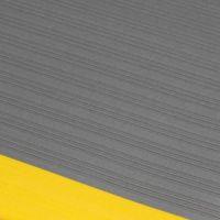 Šedo-žlutá průmyslová protiúnavová protiskluzová pěnová rohož - délka 90 cm, šířka 60 cm a výška 0,9 cm FLOMAT