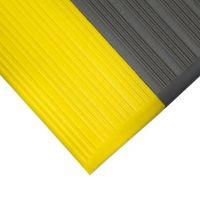 Šedo-žlutá gumová protiskluzová protiúnavová průmyslová rohož - 1830 x 90 x 0,9 cm