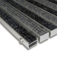 Textilní hliníková čistící vnitřní vstupní rohož Alu Standard - 100 x 100 x 2,2 cm