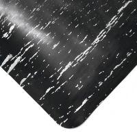 Černá gumová protiúnavová průmyslová rohož - 150 x 90 x 1,4 cm