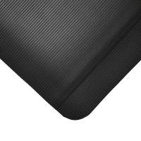 Černá gumová protiúnavová průmyslová rohož - 90 x 60 x 1 cm
