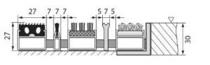 Hliníková gumová vstupní venkovní kartáčová rohož Alu Extra, FLOMAT - délka 100 cm, šířka 100 cm a výška 2,7 cm