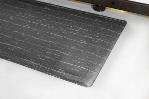 Šedá gumová průmyslová protiúnavová rohož - délka 90 cm, šířka 60 cm a výška 1,4 cm FLOMAT
